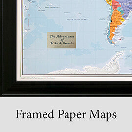 Framed Paper Maps
