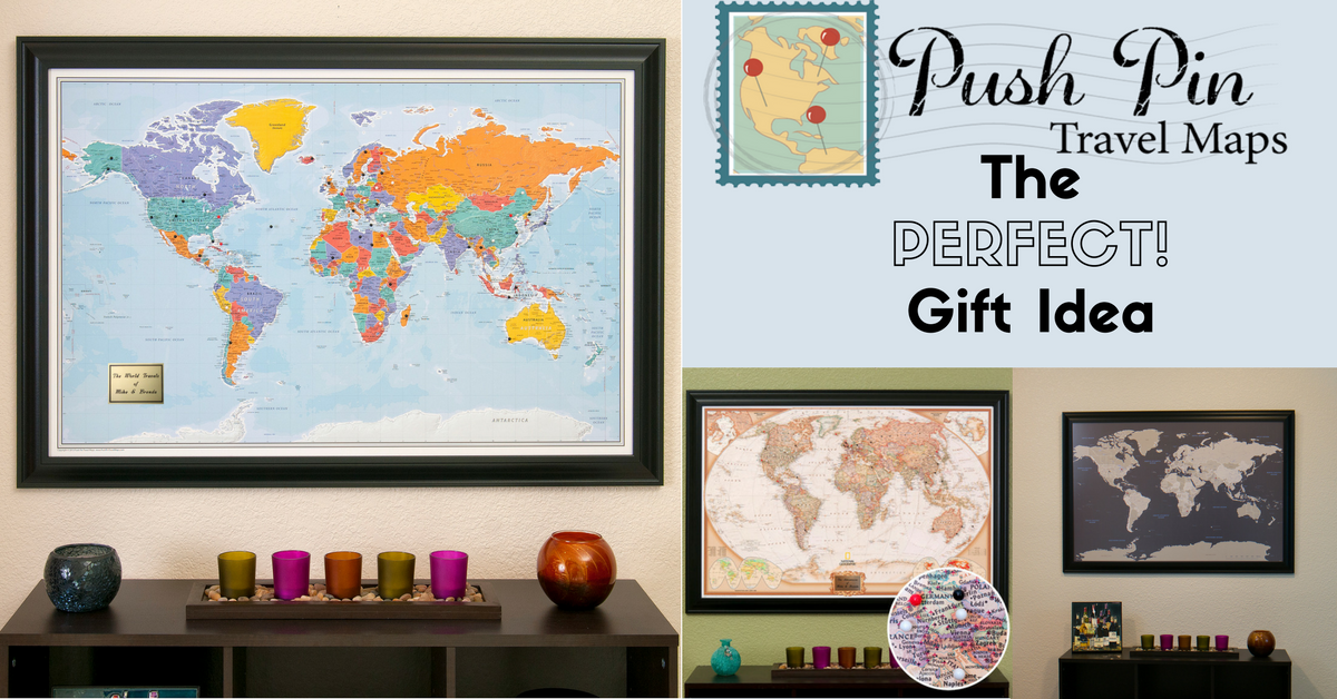 Framed and personalized world travel maps with pins gumiabroncs Image collections