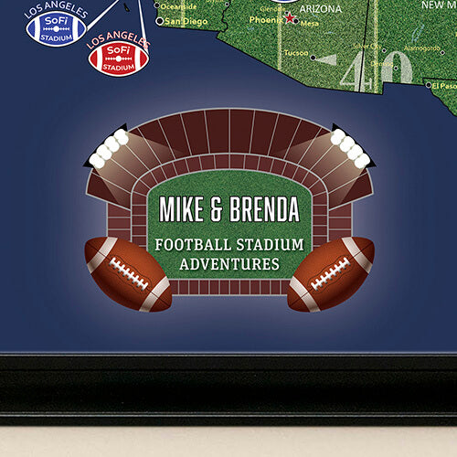 Personalized Example Football Map