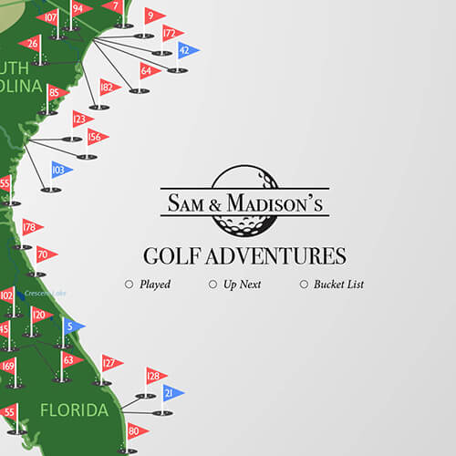 Personalized Example Golf Map