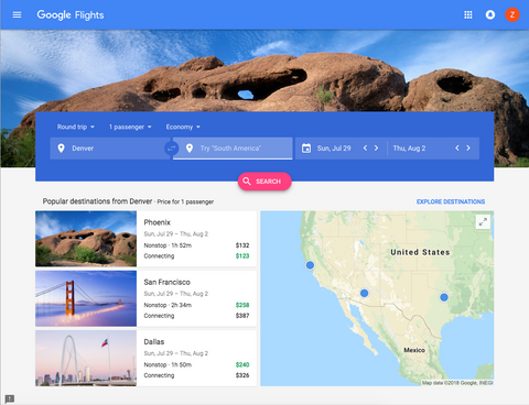 Google Flights Explorer