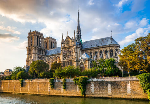 Sunset over Notre Dame Cathedral, Normandy, France