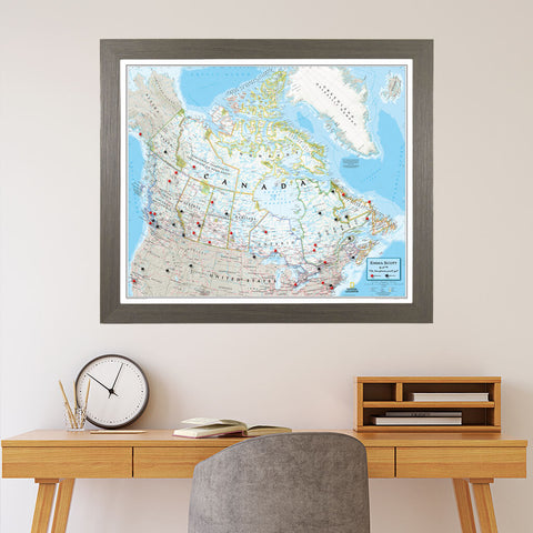 Canvas Classic Canada Travelers Map with Pins