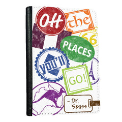 Colorful Oh, The Places You'll Go - Passport Cover