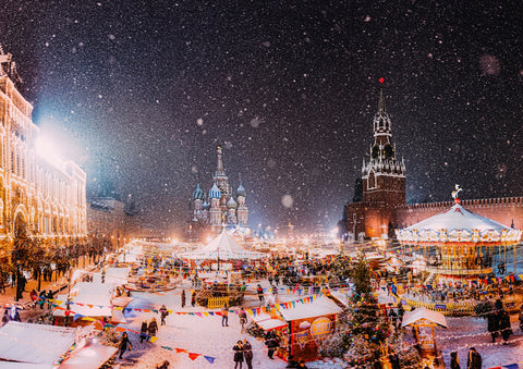 Red Square, Russia at Christmas