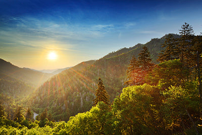 Sunset at the Newfound Gap in the Great Smoky Mountains