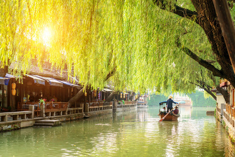 Suzhou, China is a water town on the Yangzte River