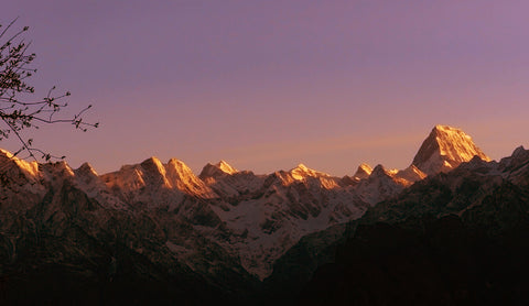 Sunset in Auli, India