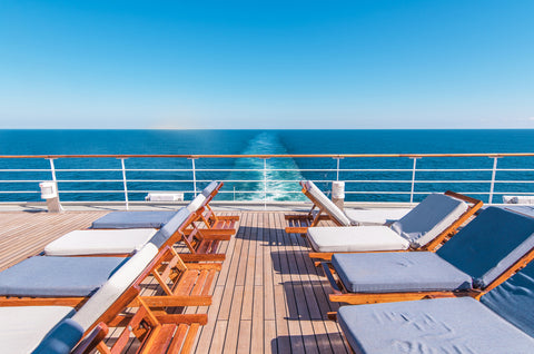 lounge chair on cruise