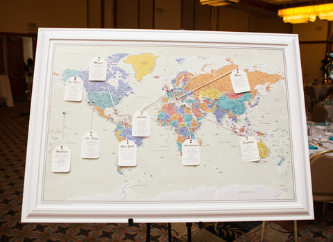 Map Seating Chart For Weddings Creative Wedding Seating Charts