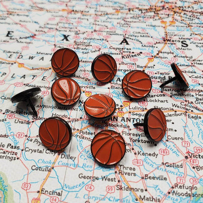 Basketball Sports Pins - Set of 10