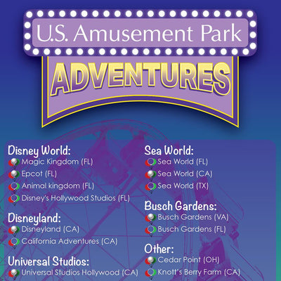 Amusement Parks Bucket List Closeup