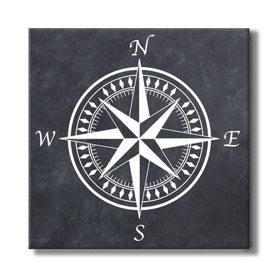 Compass Rose with Dark Background - Travel Themed Art