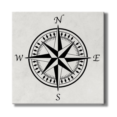 Compass Rose with Light Background - Travel Home Decor