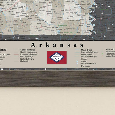 Arkansas State Map without Personalization