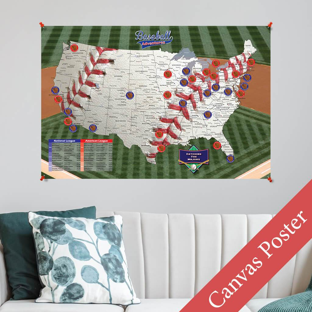 Baseball Adventures Canvas Poster