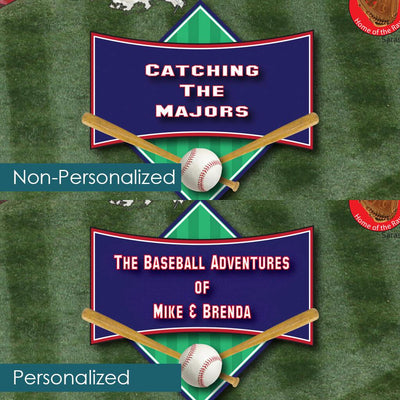 Personalization Location and Layout on Baseball Adventures Pin Map