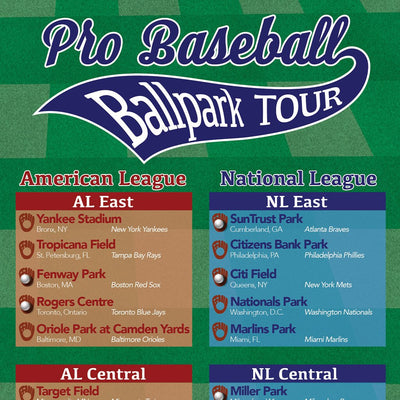 Baseball Ballparks Bucket List Closeup