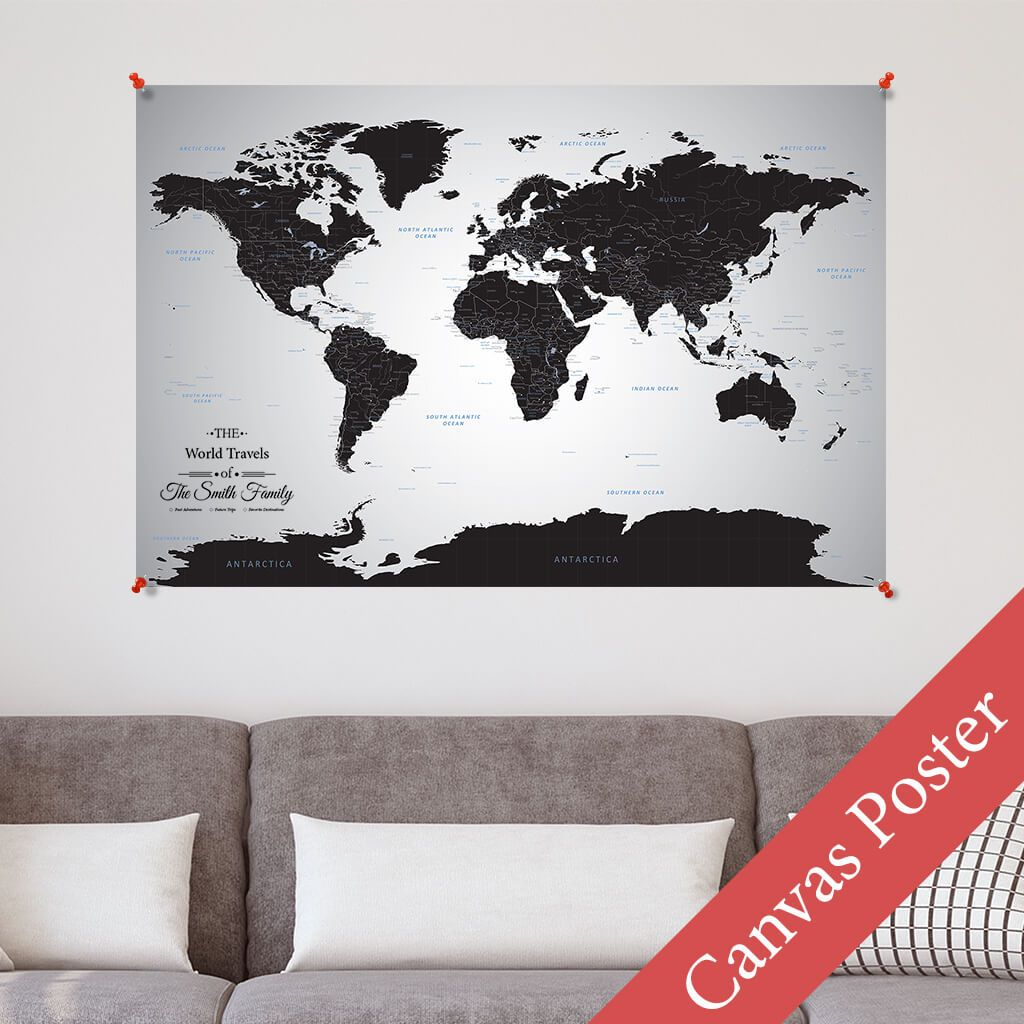 Black Ice World Canvas Poster