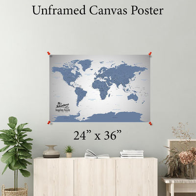 Blue Ice World Canvas Poster 24 x 36