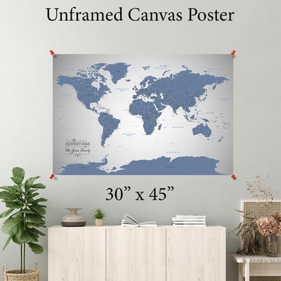 Blue Ice World Canvas Poster 30 x 45