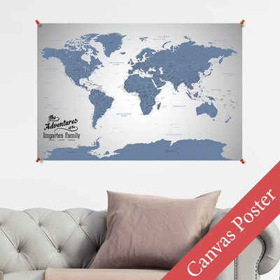Blue Ice World Canvas Poster