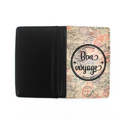 Bon Voyage passport holder - front and back