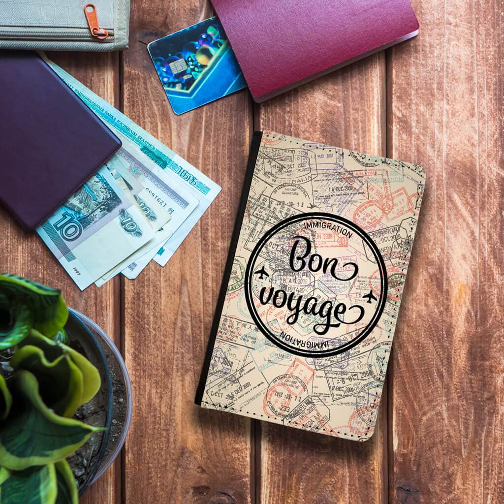 Bon Voyage passport holder
