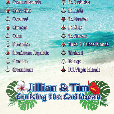 Caribbean Destinations Bucket List Closeup