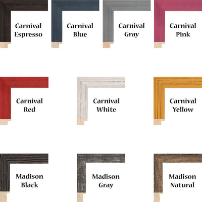 Frame Options for Canvas Map Print Artwork