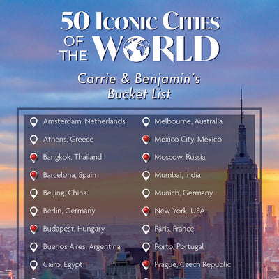 Iconic Cities of the World Bucket List Closeup