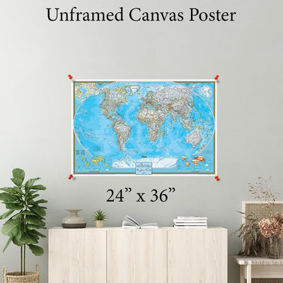 Classic World Canvas Poster 24 x 36