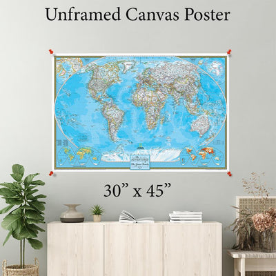 Classic World Canvas Poster 30 x 45