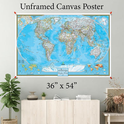 Classic World Canvas Poster 36 x 54