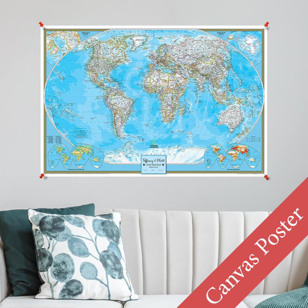 Classic World Canvas Poster