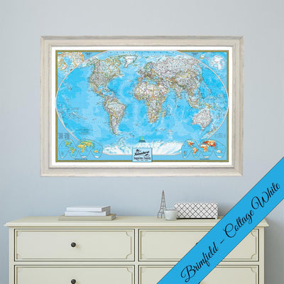 Canvas - Classic World Travel Map with Pins