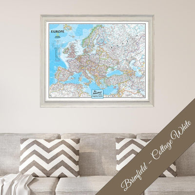 Canvas - Classic Europe Travel Map with Pins