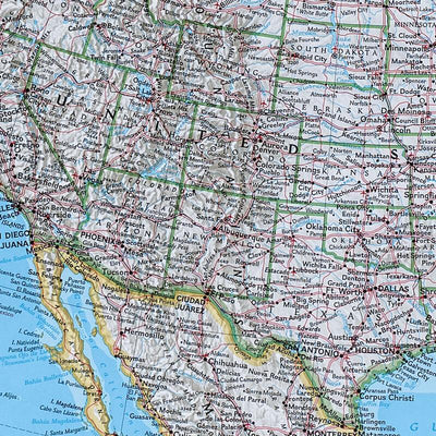 Canvas Classic North America Push Pin Travel Map Closeup