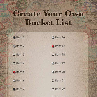 Create Your Own Bucket List - Pattern Backgrounds