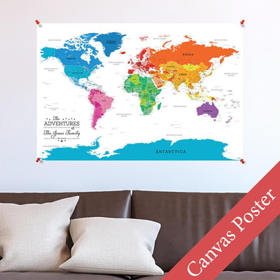 Colorful World Canvas Poster