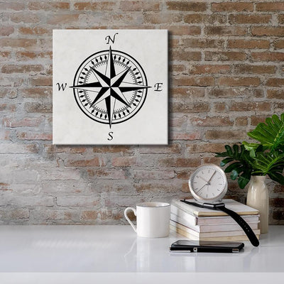 Compass Rose with Light Background - Canvas Wall Art