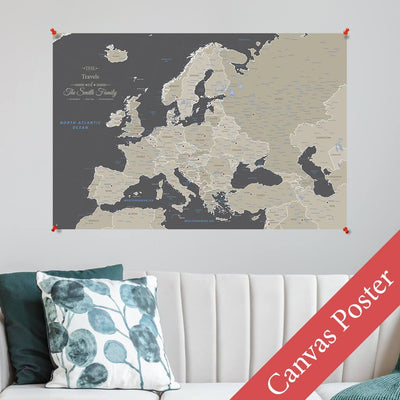 Earth Toned Europe Canvas Poster