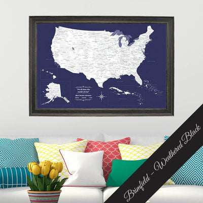 Canvas - Navy Explorers USA and Caribbean Travel Map