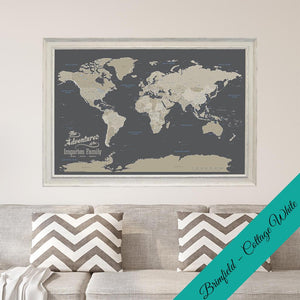 Canvas Earth Tone World Brimfield Cottage White Frame