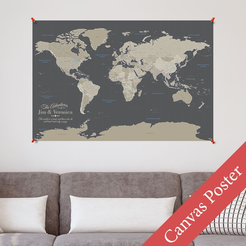 Earth Toned World Canvas Poster