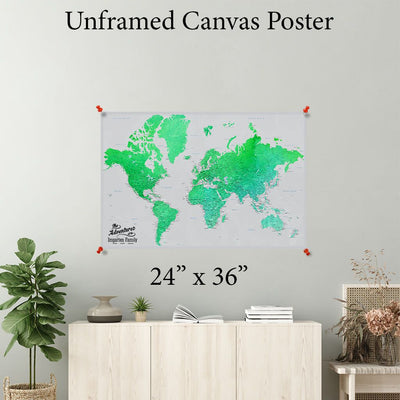 Enchanting Emerald World Canvas Poster 24 x 36