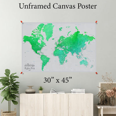 Enchanting Emerald World Canvas Poster 30 x 45