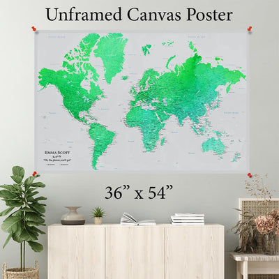 Enchanting Emerald World Canvas Poster 36 x 54