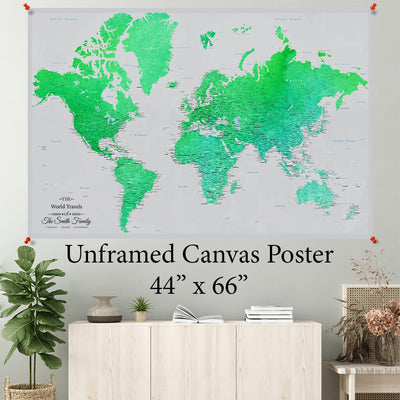 Enchanting Emerald World Canvas Poster 44 x 66