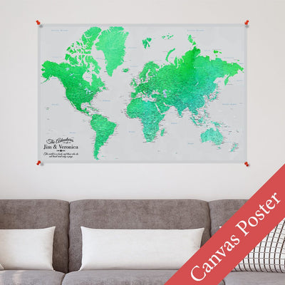 Enchanting Emerald World Canvas Poster